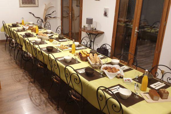 table petit déjeuner séminaire